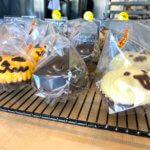 かぼちゃパン、黒ねこパン、おばけパン